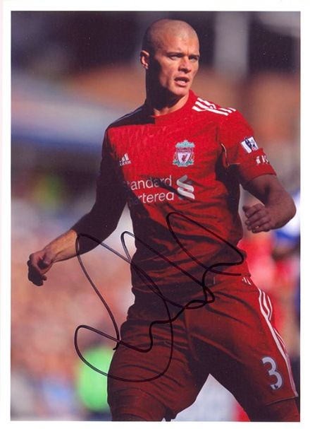 Paul Konchesky, Liverpool, signed 7x5 inch photo.